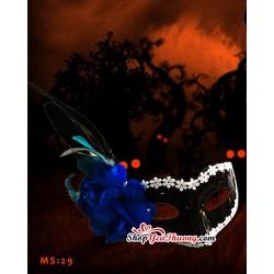 Mặt nạ halloween - mặt nạ hóa trang Hoa hồng xanh