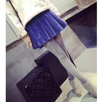 Chân váy vintage nữ xòe Mã: VN298 - XANH