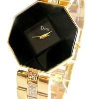 Đồng hồ Dior mặt 8 cạnh màu đen