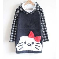 Áo thun hoodie form dài con mèo Mã: AD754