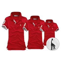 MaoMao - Combo 3 Áo Gia Đình Logo Hươu 2015 - Màu Đỏ Tươi - H_09