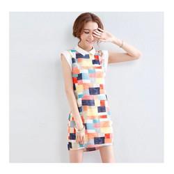 Hàng cao cấp:Đầm caro màu sắc xuân hè - DV2154