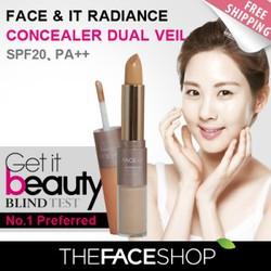 Kem Che Khuyết Điểm Face It Radiance Concealer Dual Veil  Hàn Quốc