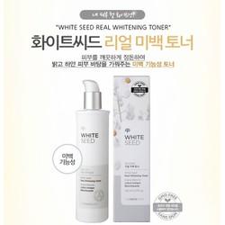 Nước hoa hồng trắng da White Seed Real Whitening Toner 170ml Hàn Quốc