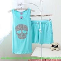 Đồ mặc ở nhà thun cotton hình Skull cực chất NN410
