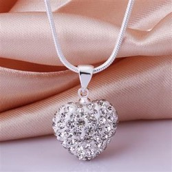 Dây chuyền trái tim bạc đính đá cực xinh