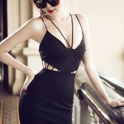 đầm đen dự tiệc thiết kế ôm body sexy DM106
