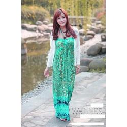 Đầm đi biển nữ dáng mỏng, họa tiết nổi bật, thời trang hiện đại-D2923