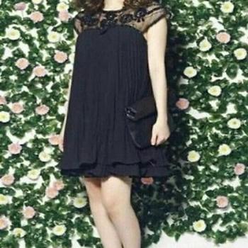 Đầm suông voan xếp ly phối ren hoa tay thời trang đẹp DSV738