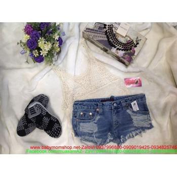 Quần short jean nữ rách thời trang hè cung cấp sỉ lẻ QS38