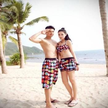 Quần cặp đôi đi biển hot mùa hè made thailan mới lạ QC11
