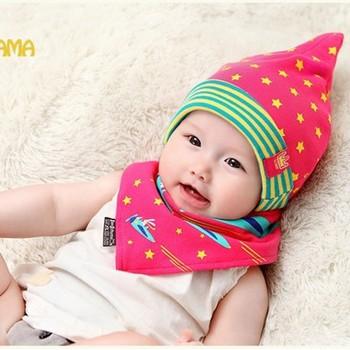 Bộ khăn nón vải ngôi sao sọc cho bé o tháng - 18 tháng
