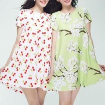 Đầm suông họa tiết hoa xinh như Ngọc Trinh DV610