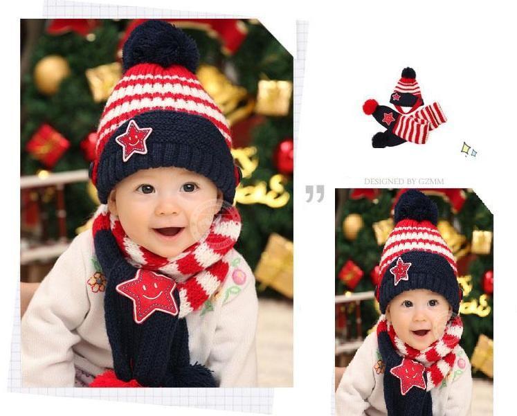 Bộ khăn nón len Ngôi sao Xanh dành cho bé 03 tháng - 03 tuổi 5