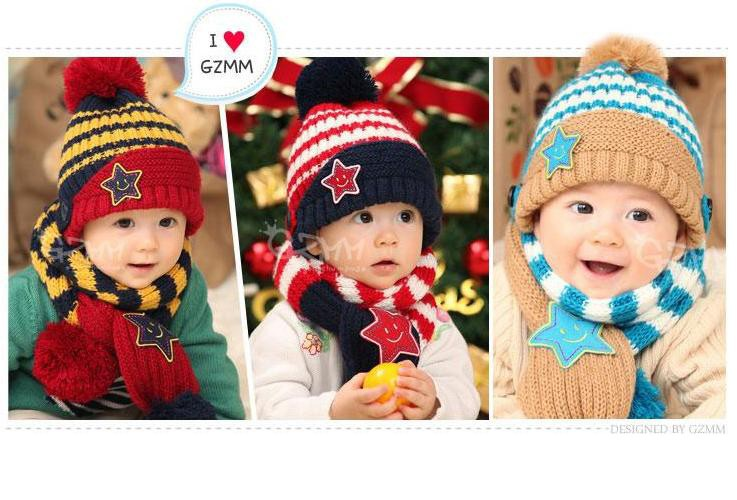 Bộ khăn nón len Ngôi sao Xanh dành cho bé 03 tháng - 03 tuổi 7