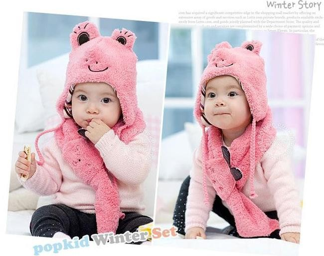 Bộ khăn nón Thỏ Bổng dành cho bé 03 tháng - 02 tuổi 2