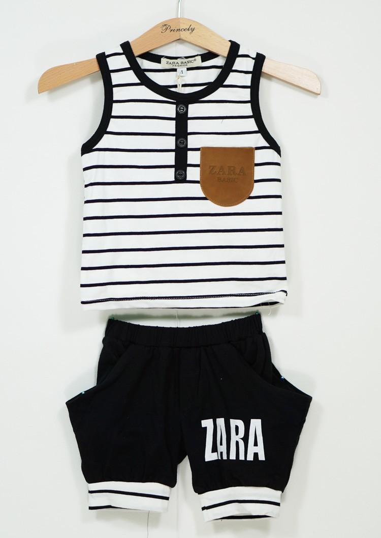 Bộ thun sọc Zara quần alibaba BT-447A 1