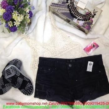 Quần short nữ jean đen thời trang ssành diệu QS42