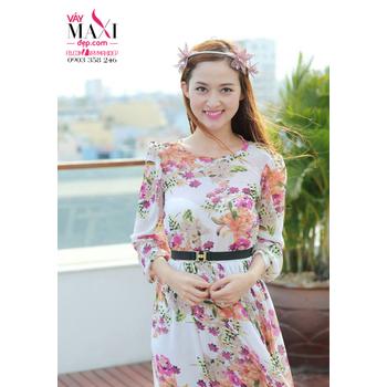 Đầm maxi tay lỡ hoa ly – MX158