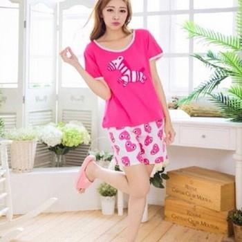 Đồ bộ ngủ áo in hính ngưa quần short hình trái tim đáng iu NN423
