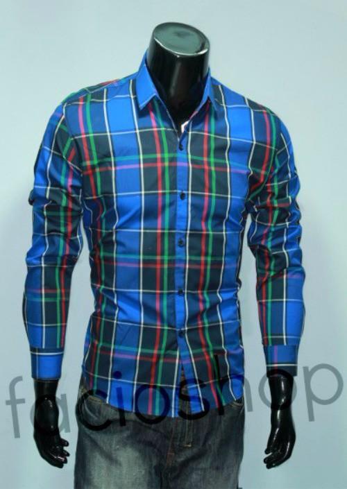 Chuyên sỉ lẻ áo sơ mi cotton nam Facioshop SC255 1