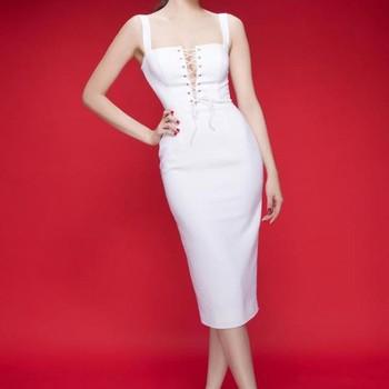 Đầm ôm body Ngọc Trinh thiết kế cách điệu ngực neww 2015 DOV6