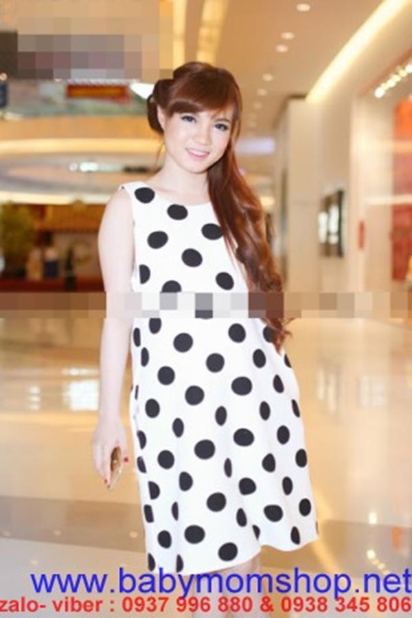 Đầm bầu Hàn quốc dạng suông chấm bi đẹp ,cá tính DB271 1