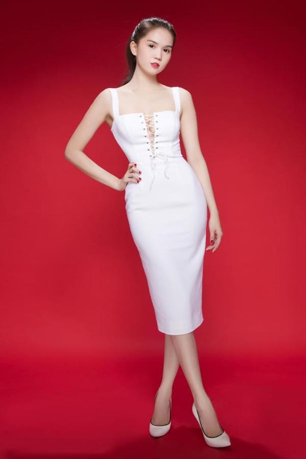 Đầm ôm body Ngọc Trinh thiết kế cách điệu ngực neww 2015 DOV6 1