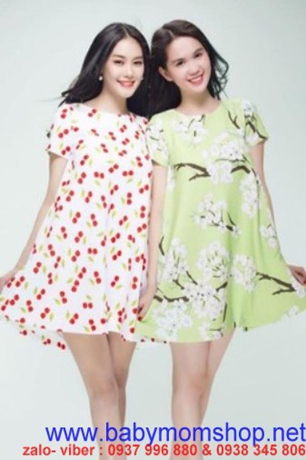 Đầm suông họa tiết hoa xinh như Ngọc Trinh DV610 1