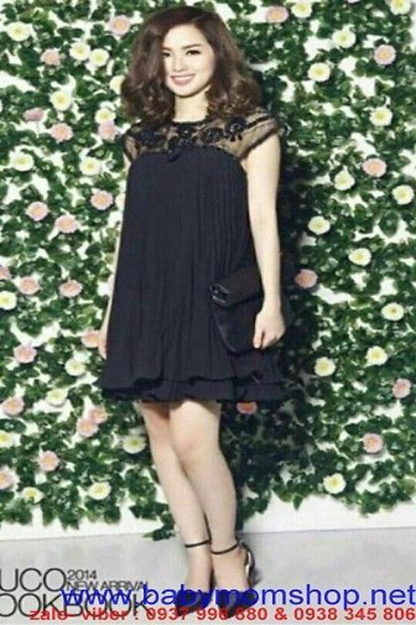 Đầm suông voan xếp ly phối ren hoa tay thời trang đẹp DSV738 1