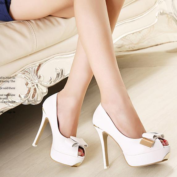 f3979.com - C112 - Giày cao gót nơ trắng 4