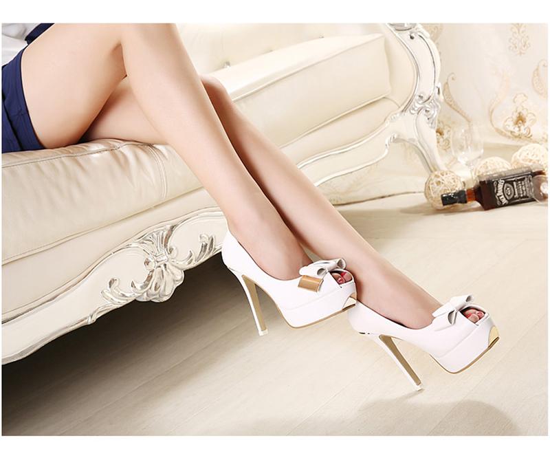 f3979.com - C112 - Giày cao gót nơ trắng 2