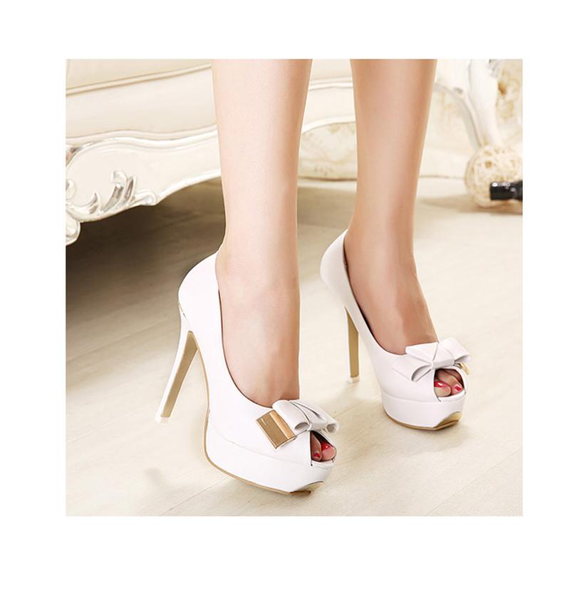 f3979.com - C112 - Giày cao gót nơ trắng 3