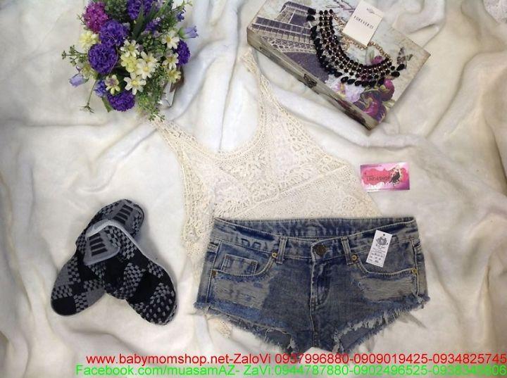 Quần short jean bụi bặm thời trang hè cho bạn gái QS40 1