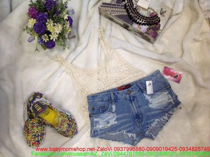 Quần short jean hàng thái cao cấp thời trang hè QS31 1