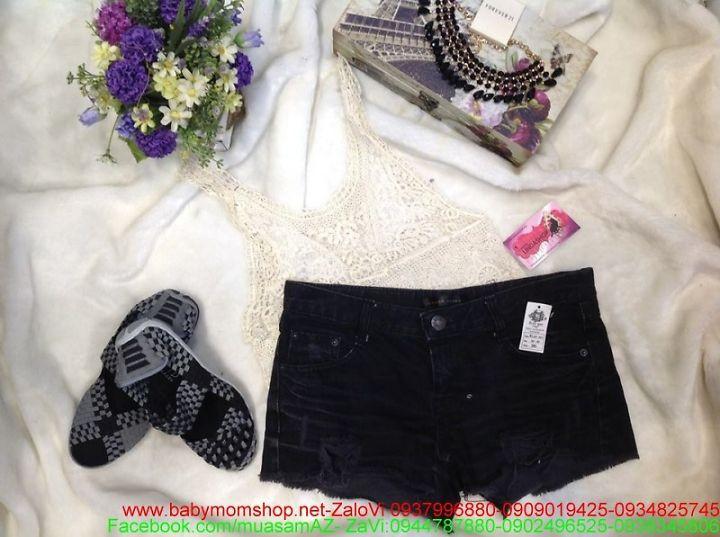 Quần short nữ jean đen thời trang ssành diệu QS42 1