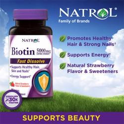 Kẹo ngậm trị rụng tóc Biotin 5000mcg 250 viên