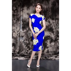 Đầm ôm body phối hoa Ngọc Trinh D131