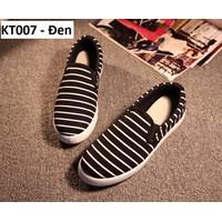 Giày lười KT007 Đen