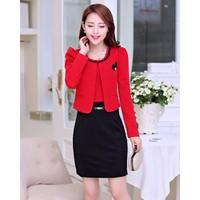 Bộ đồ Nữ đầm và áo khoác F0288GBDZ038 - Thun cao cấp - Đỏ - Việt Nam