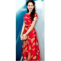 Đầm đỏ bướm vàng hoa hậu Thu Thảo - GT93