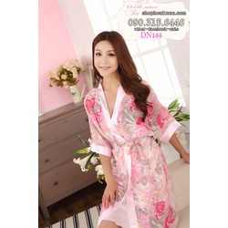 Đầm ngủ phi bóng kèm áo choàng voan hàng quảng châu - DN166_1