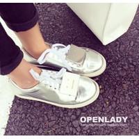 Giày bata ánh kim mặt cười