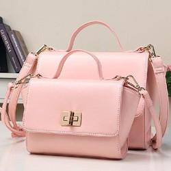 Túi xách mini màu hồng cực dễ thương