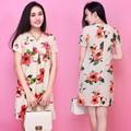 Đầm suông hoa nơ ngực - 1281