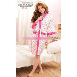 Đầm ngủ kèm áo choàng phi bóng hàng quảng châu - DN132