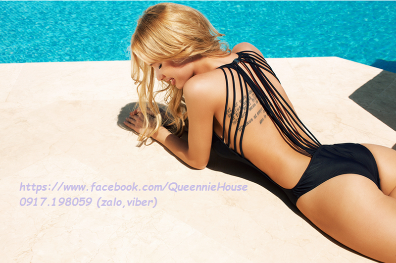 Bikini 1 mảnh dây đan lưng 1