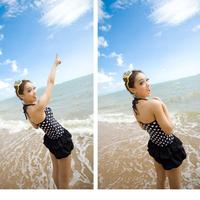 Bộ đồ bơi chấm bi 3 mảnh cực xinh BKN220
