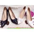 Giày cao gót mũi nhọn có nơ thời trang cho nàng công sở hàng xuất khẩu