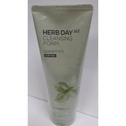 Sữa rửa mặt nam Herb Day 365 Cleansing Foam Bạc hà 170ml Hàn Quốc